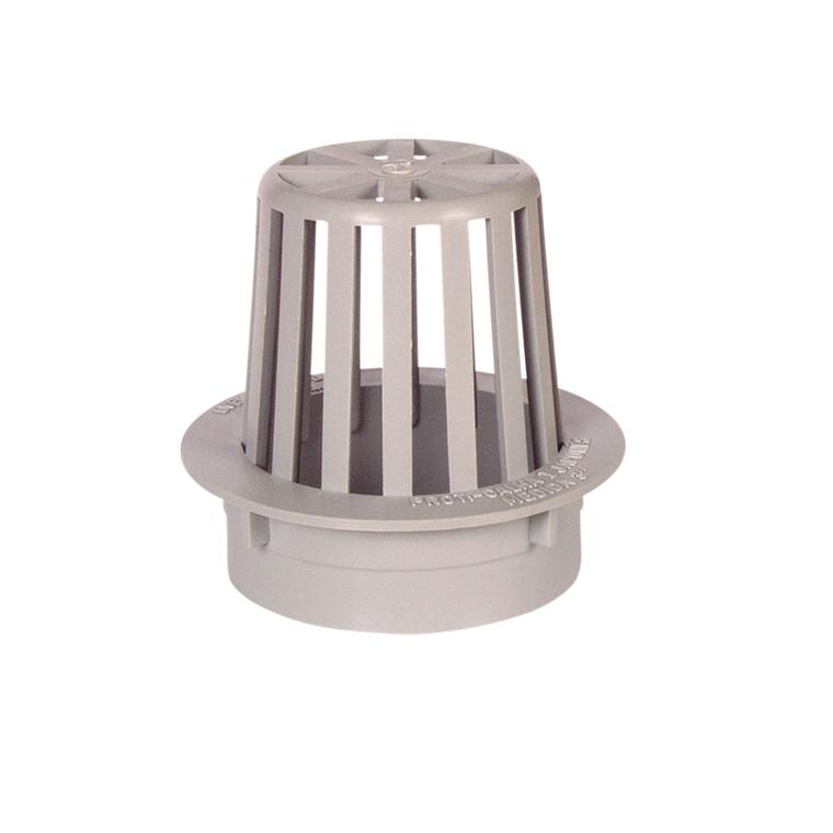 Calha de Polipropileno Circular Externo 100 mm Branco - Overtime