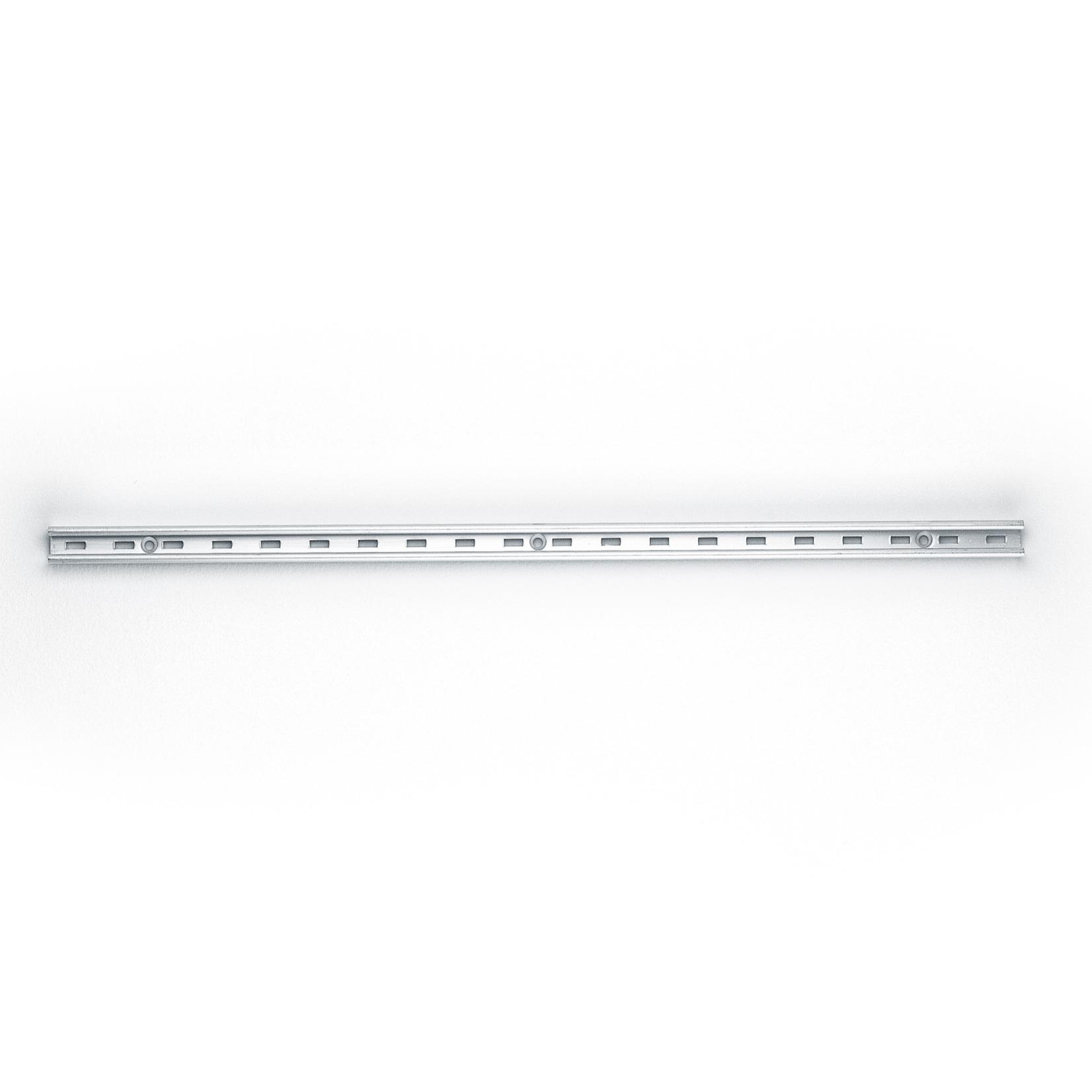 Trilho para prateleira de Aluminio Encaixe Regulavel 50cm Prata - Fico