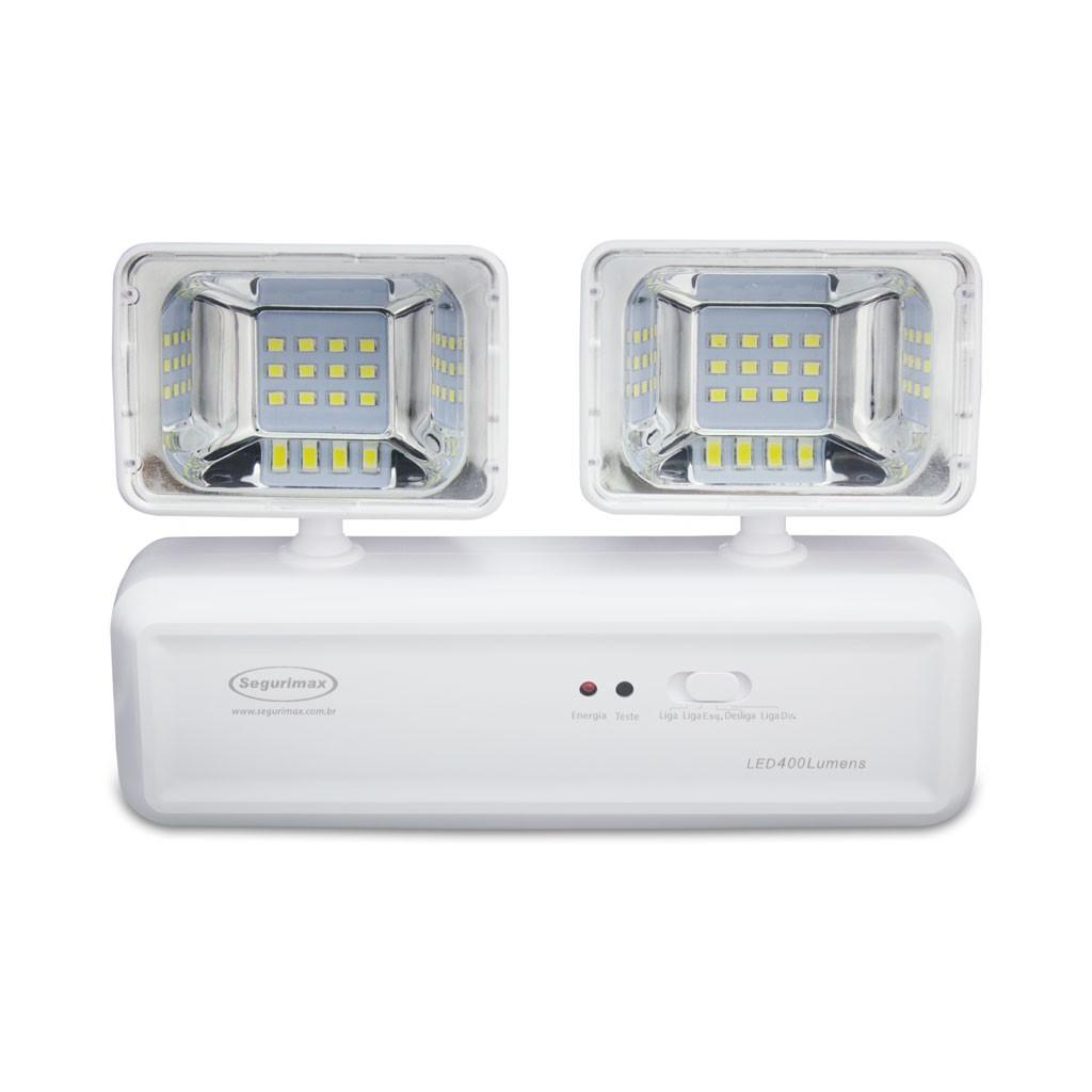 Luminaria De Emergencia Led Integrado 24 Lampadas 4W Bivolt - Branco - Segurimax