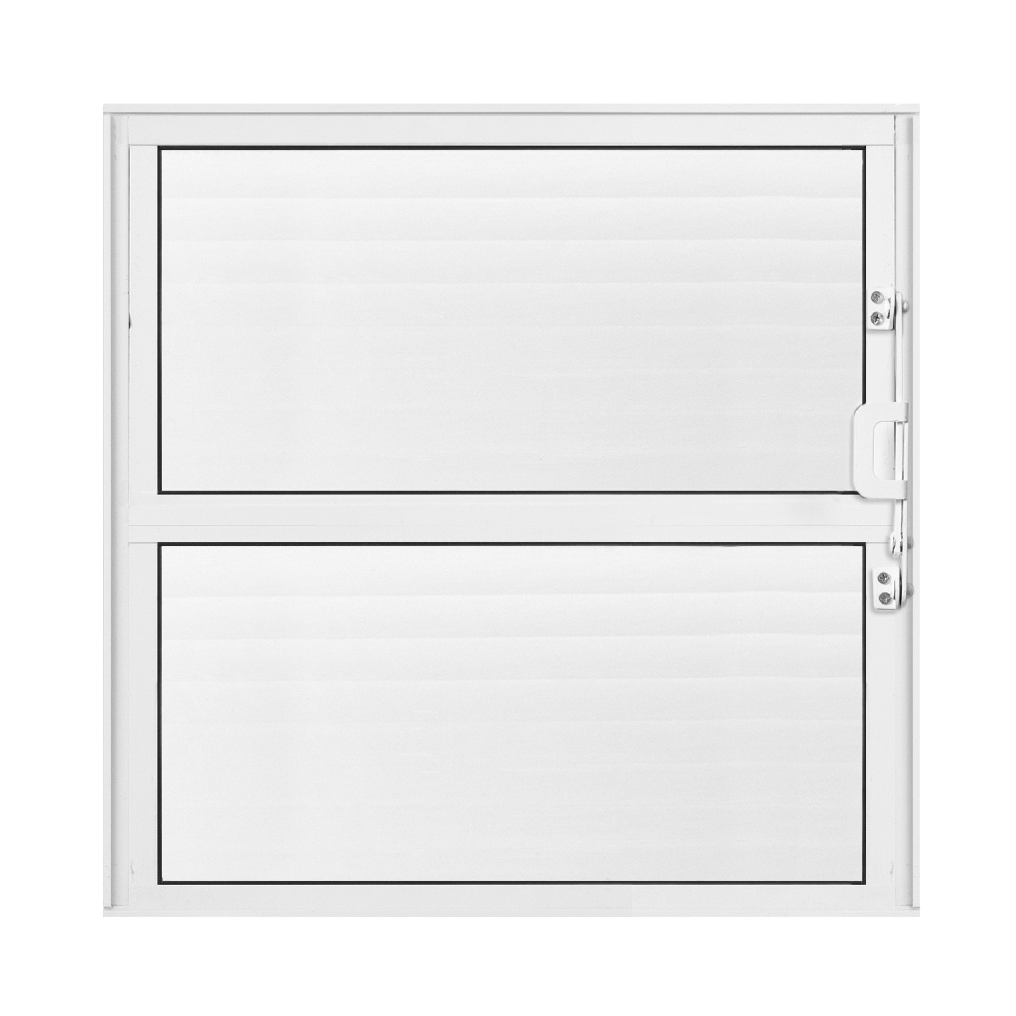Janela de Abrir Basculante de Aluminio Vidro Canelado 40x40 cm Branco - Aluvid