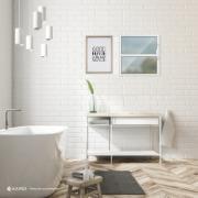 Janela de Abrir Basculante de Alumínio Vidro Canelado 40x40 cm Branco - Aluvid
