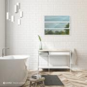 Janela de Abrir Basculante de Alumínio Vidro Liso 60x80 cm Branco - Metalflex Aluvid