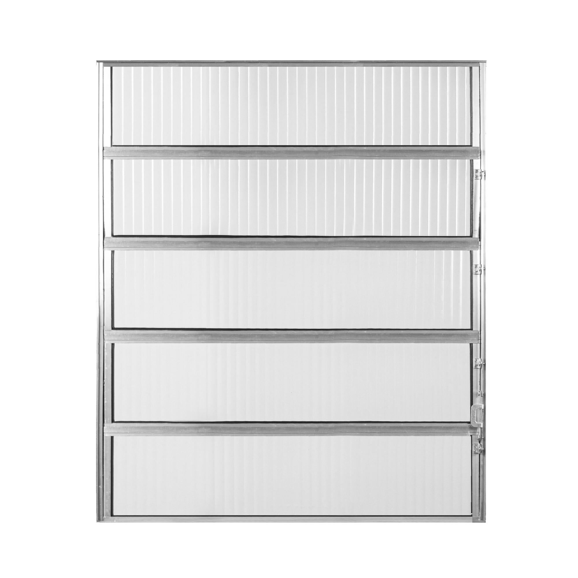 Janela de Abrir Basculante de Aluminio Vidro Canelado 100x80 cm Cinza - Aluvid