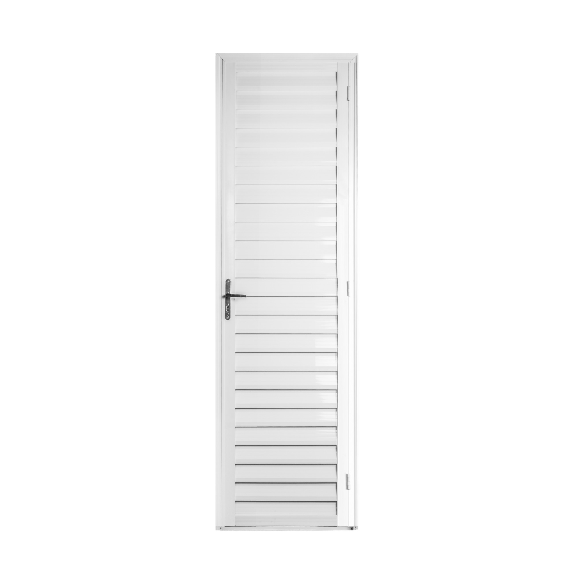 Porta de Abrir de Aluminio 210cm x 60cm Metalflex Lado Esquerdo - Aluvid