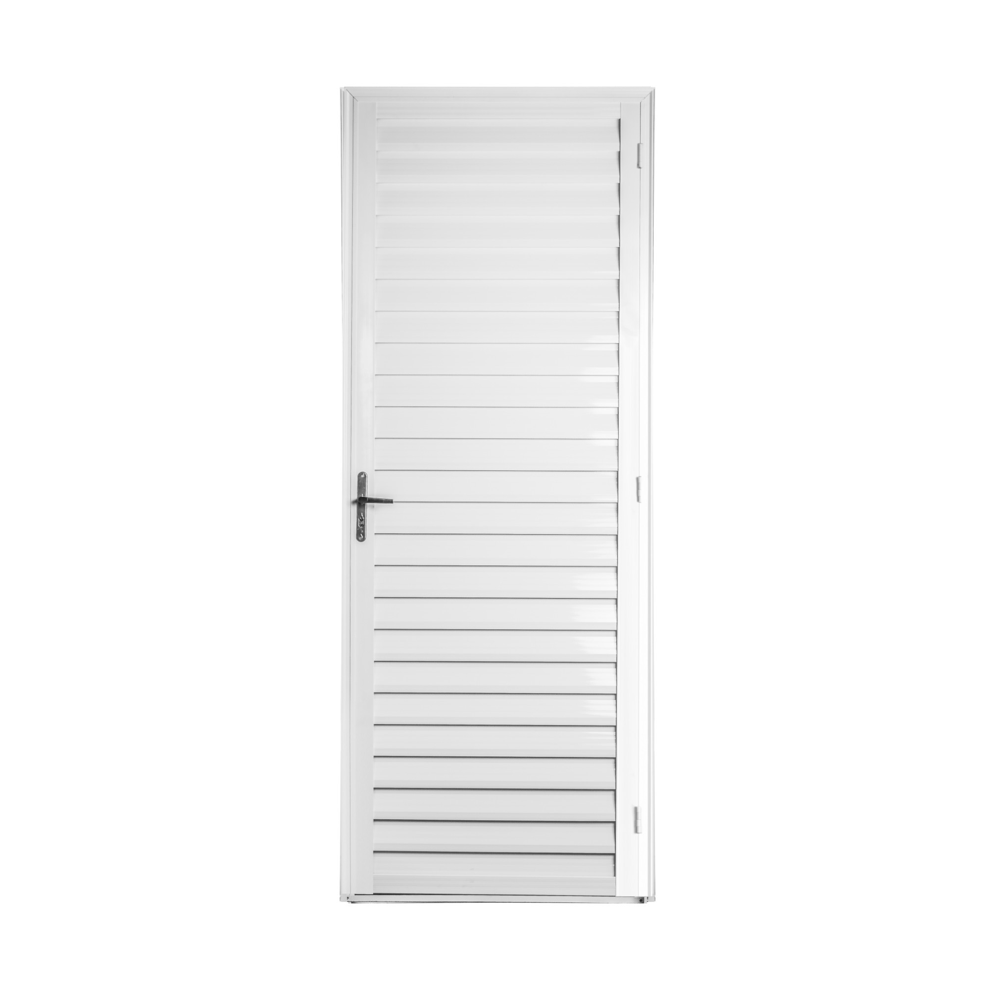Porta de Abrir de Aluminio 210cm x 80cm Veneziana Metalflex Lado Esquerdo - Aluvid