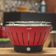 Churrasqueira Portátil a Carvão 4 Pilhas AA ou Cabo USB Vermelha - 01R - Bianchini