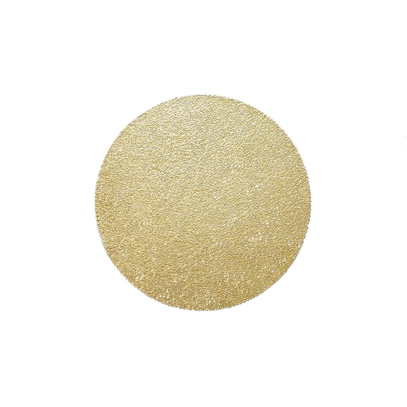 Pano Americano Redondo 38 cm PVC Ouro - Bianchini
