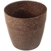 Cachepot Plástico 10cm Imbuia - Evo