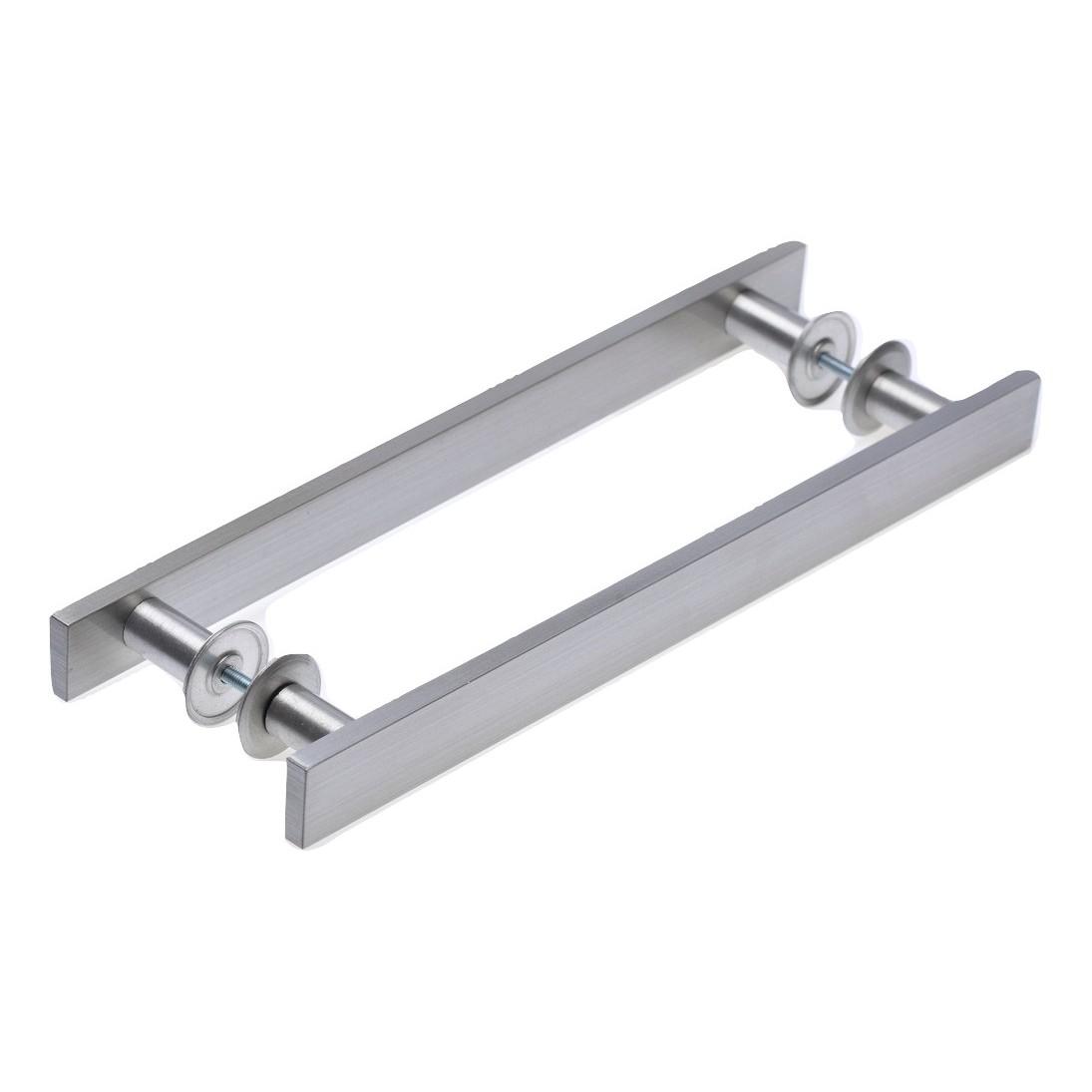 Puxador de Aluminio Escovado 400 mm - Paris Hastvel