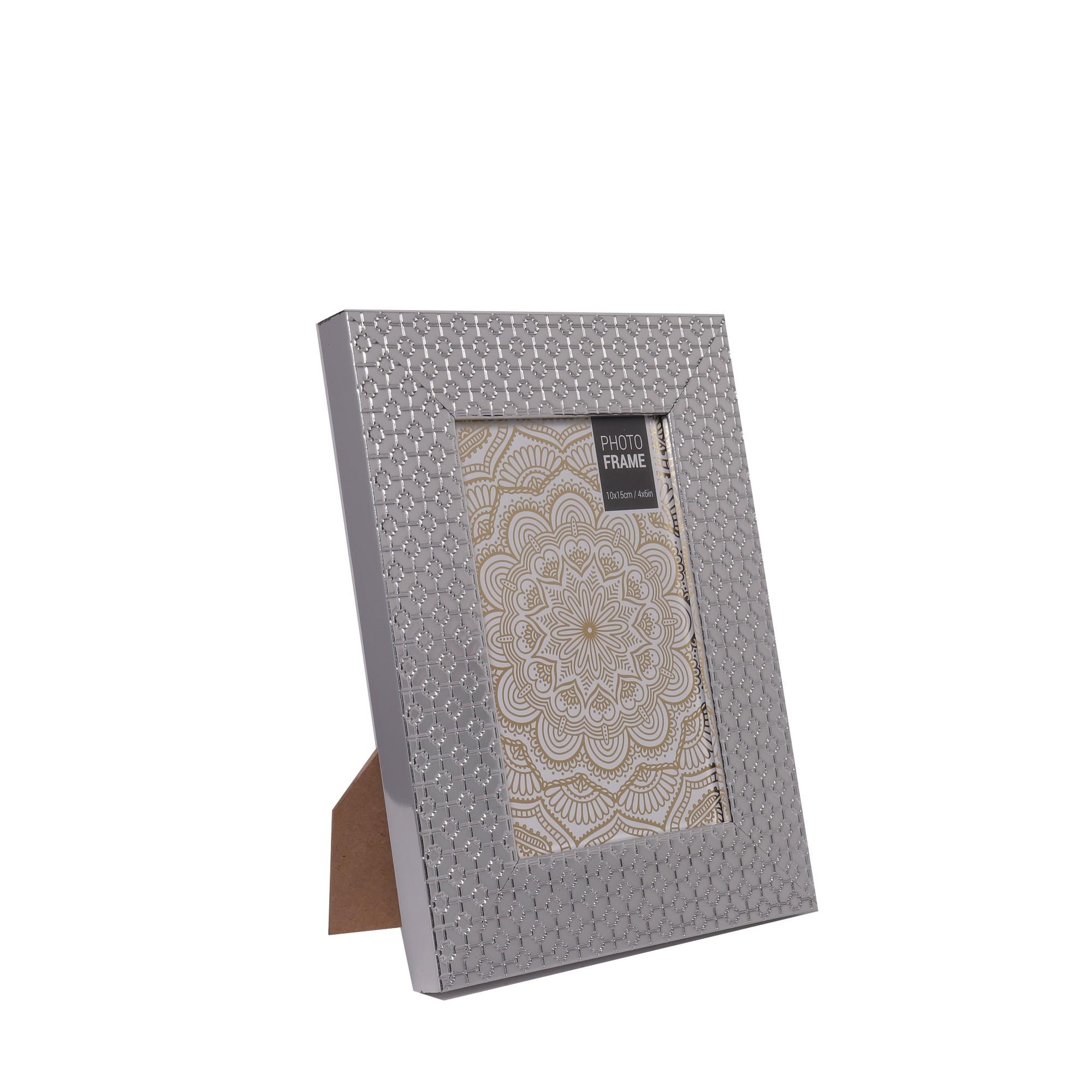 Porta Retrato Unifoto 10x15 cm Cinza 26094 - Noritex