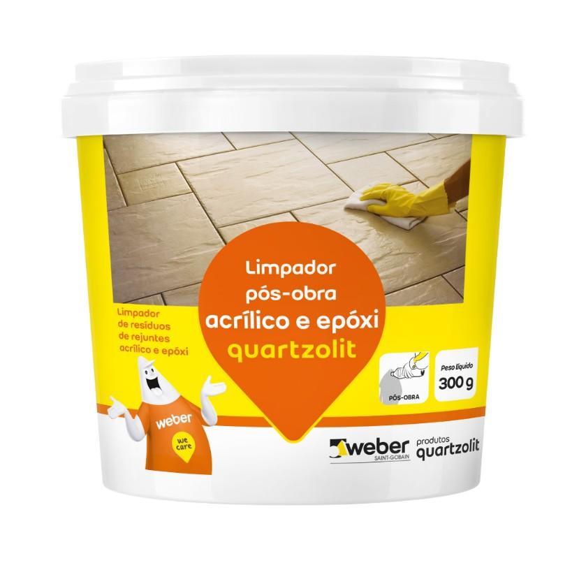 Limpador de Rejuntes Acrilico e Epoxi para Limpeza de Residuos Pos-obra 300g - Quartzolit
