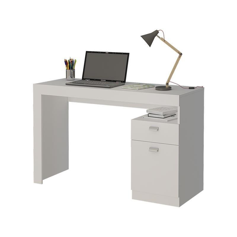 Mesa Computador 120cm 1 Gaveta e 1 Porta Melissa Branco - Permobili