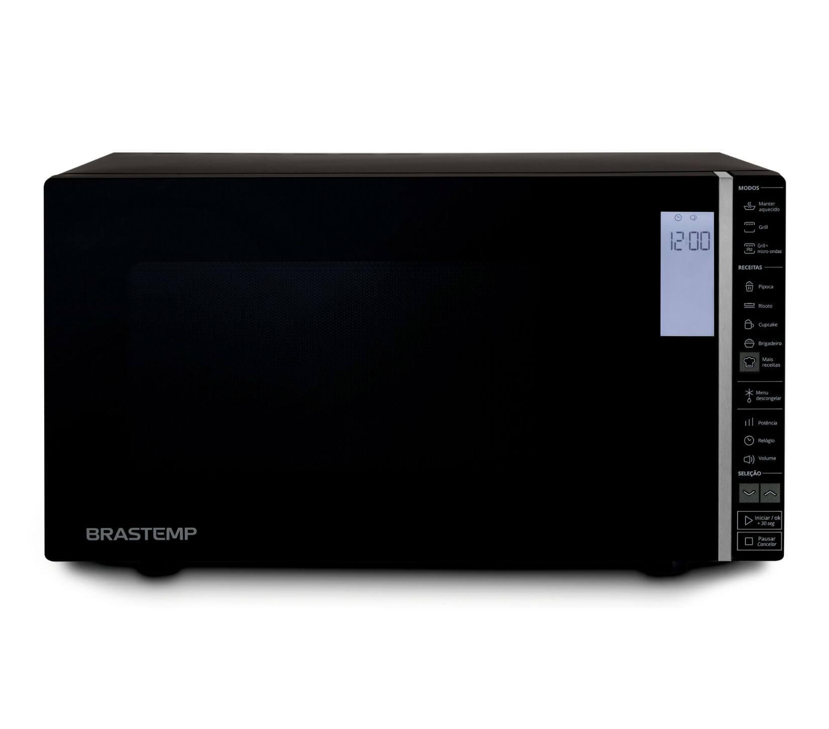 Micro-ondas Brastemp BMG45AEANA Preto 127V - 32L Painel Touch Grill Timer