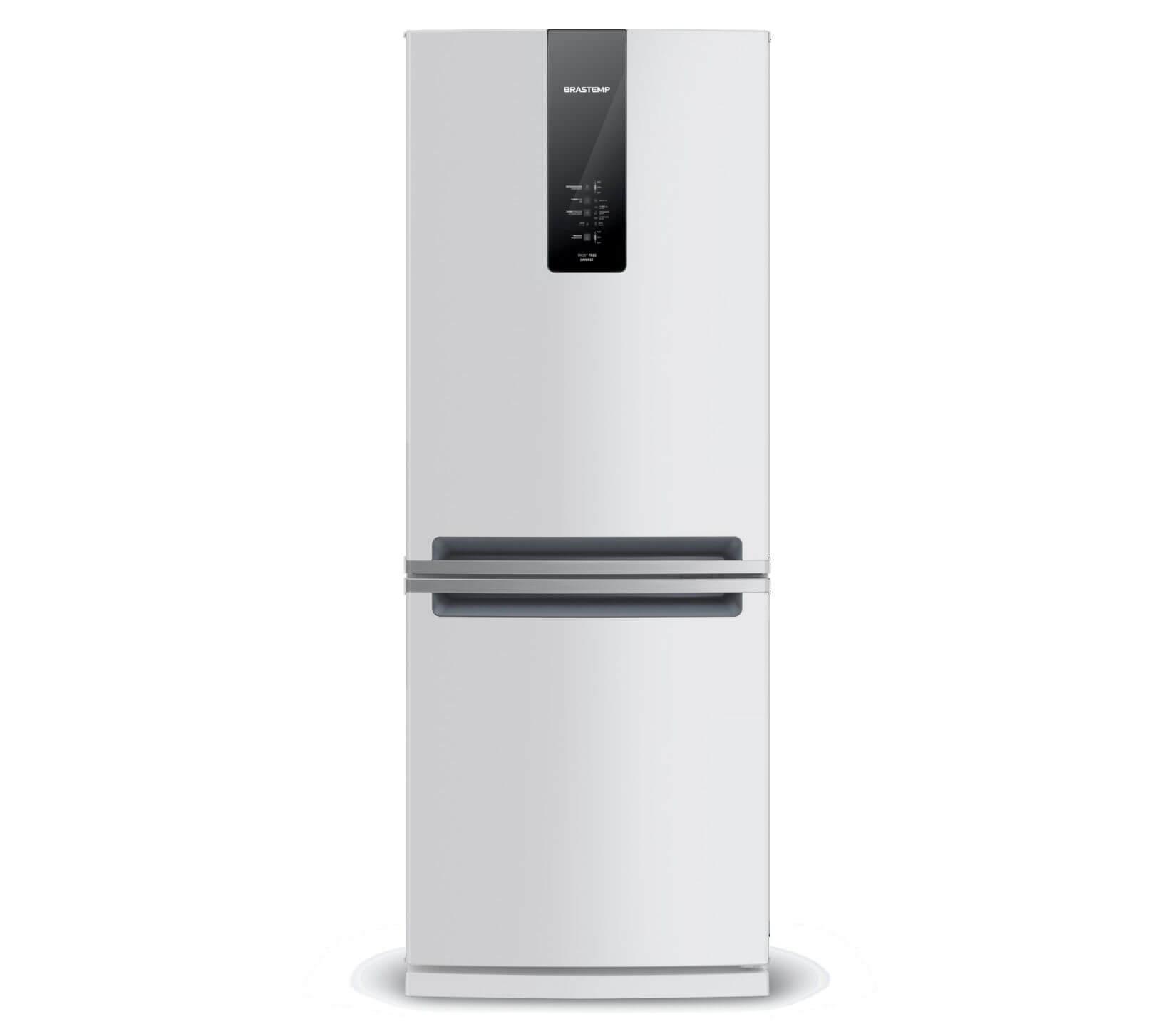 GeladeiraRefrigerador Brastemp Frost Free Inverse 443L Branco 127V - Painel Touch BRE57ABANA