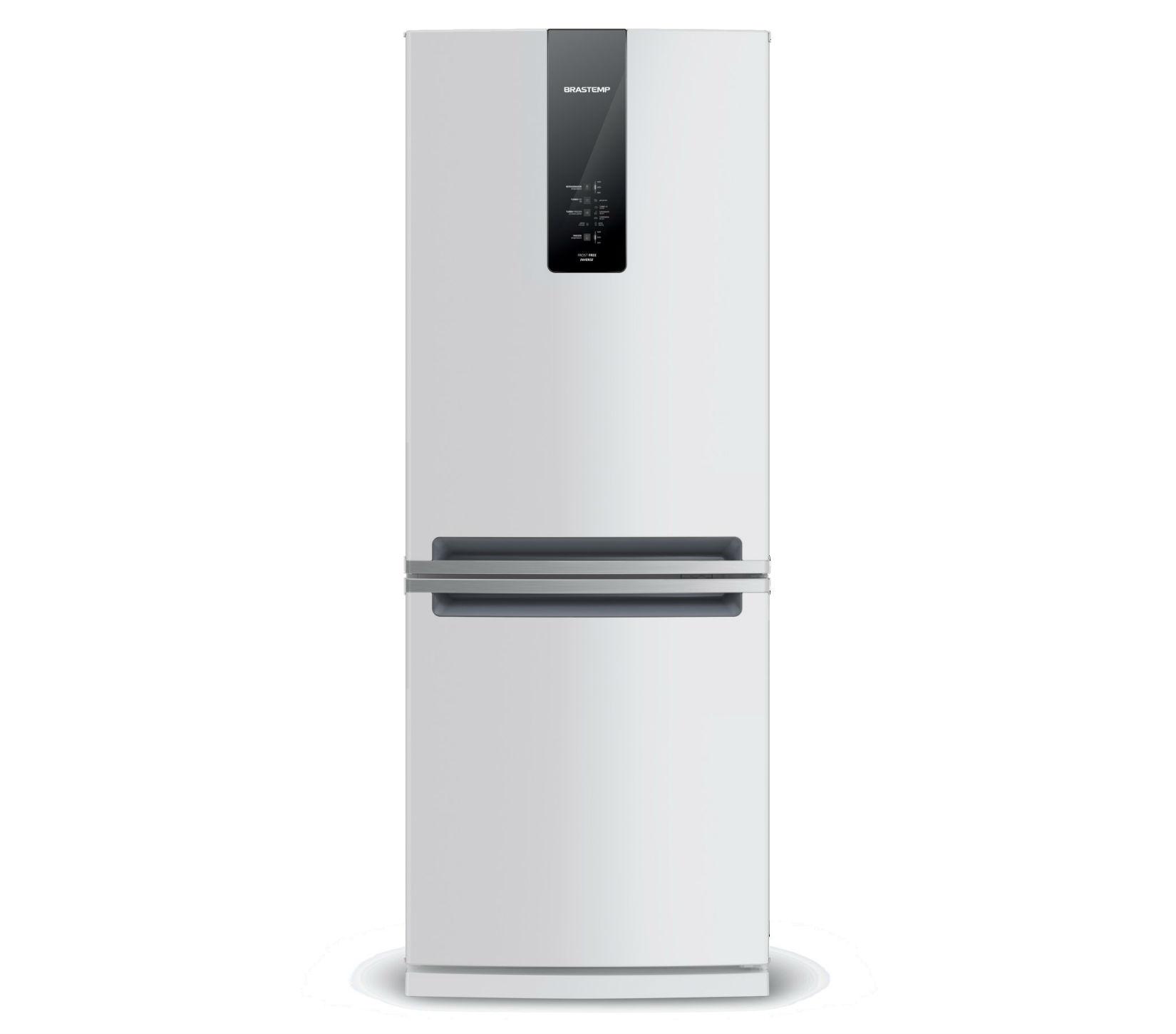 GeladeiraRefrigerador Brastemp Frost Free Inverse 443L Branco 220V - Painel Touch BRE57ABRNA