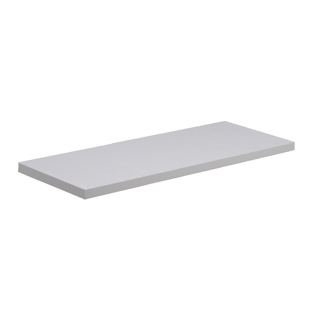 Prateleira de Madeira 20 x 100 x 15cm Branco - Prat-K