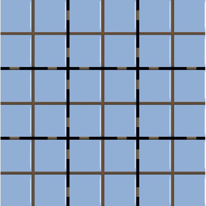 Revestimento Square Laguna Mesh Brilhante Tipo A Borda Bold 95x95cm 159m Azul Claro - Eliane