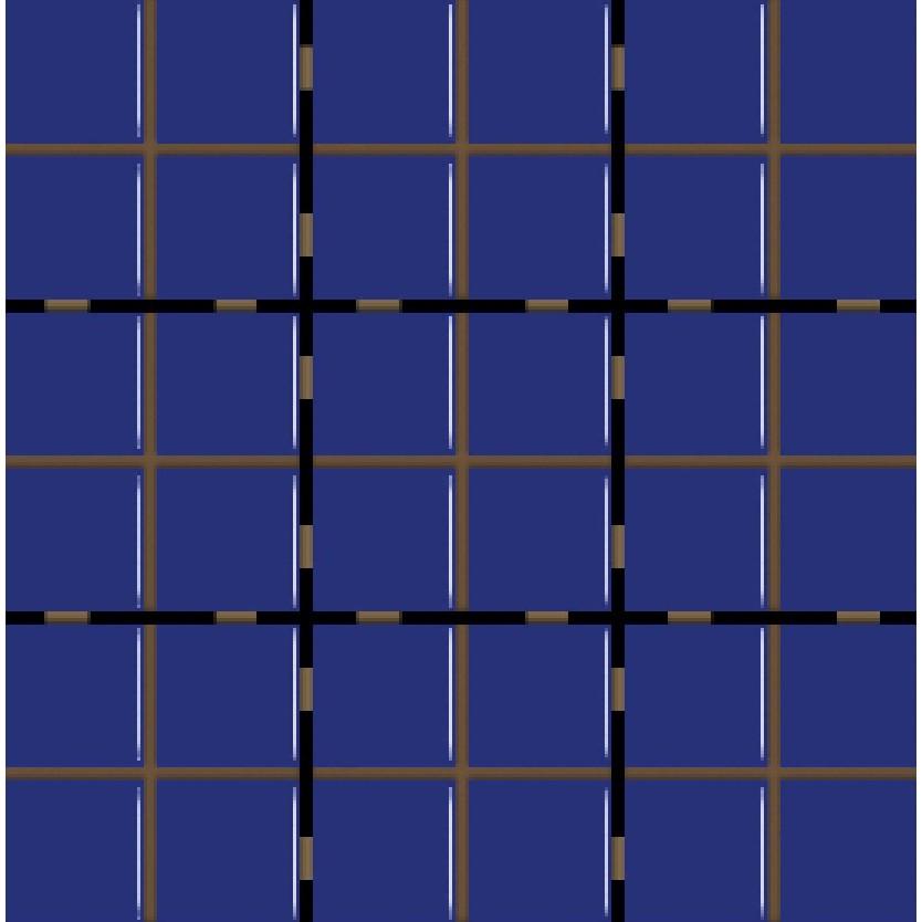 Revestimento Square Naval Mesh Brilhante Tipo A Borda Bold 95x95cm 159m Azul Escuro - Eliane