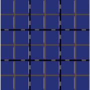 Revestimento Square Naval Mesh Brilhante Tipo A Borda Bold 9,5x9,5cm 1,59m² Azul Escuro - Eliane