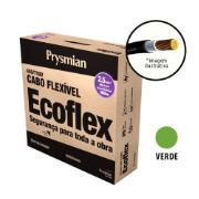 Cabo Flexível Antichamas Ecoflex 2,50 mm² 100 m 750V 1 Condutor Verde - Prysmian