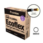 Cabo Flexível Antichamas Ecoflex 2,50 mm² 100 m 750V 1 Condutor Branco - Prysmian