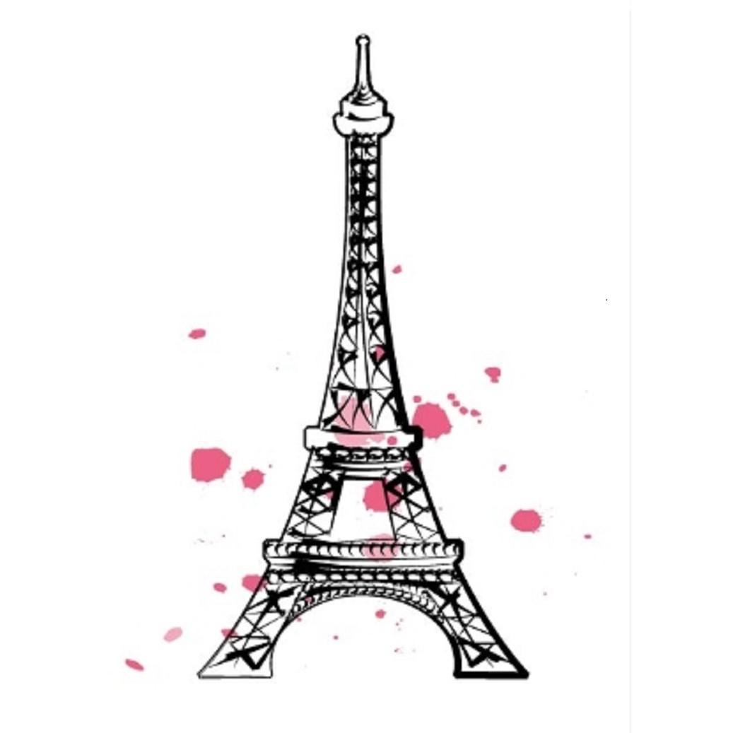 Quadro Decorativo em Canvas 25x25 cm Torre Eiffel - Jolie