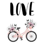 Quadro Decorativo em Canvas 25x25 cm Love - Jolie