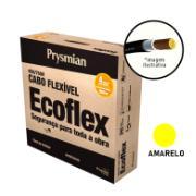 Cabo Flexível Antichamas Ecoflex 4,00 mm² 100 m 750V 1 Condutor Amarelo - Prysmian