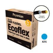Cabo Flexível Antichamas Ecoflex 4,00 mm² 100 m 750V 1 Condutor Azul - Prysmian