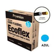 Cabo Flexível Antichamas Ecoflex 6,00 mm² 100 m 750V 1 Condutor Azul - Prysmian