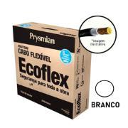 Cabo Flexível Antichamas Ecoflex 6,00 mm² 100 m 750V 1 Condutor Branco - Prysmian