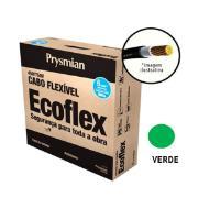 Cabo Flexível Antichamas Ecoflex 6,00 mm² 100 m 750V 1 Condutor Verde - Prysmian