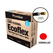 Cabo Flexível Antichamas Ecoflex 6,00 mm² 100 m 750V 1 Condutor Vermelho - Prysmian