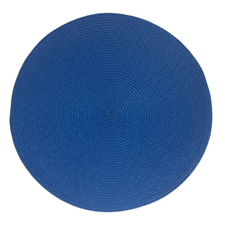 Pano Americano Redondo 38 cm Plastico Azul Escuro - Bianchini