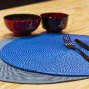 Pano Americano Redondo 38 cm Plástico Azul Escuro - Bianchini