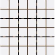 Revestimento Square Branco Mesh Brilhante Tipo A Borda Bold 9,5x9,5cm 1,59m² Branco - Eliane