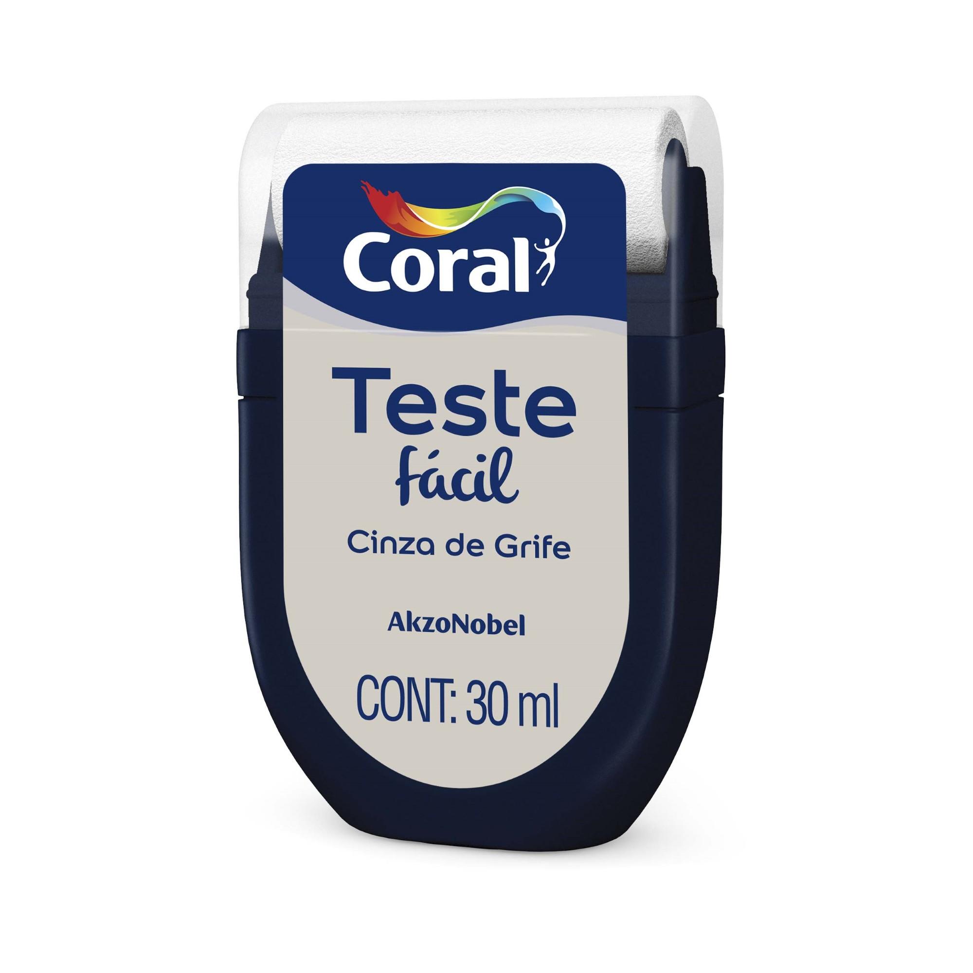 Teste Facil 30ml Cinza de Grife - Coral