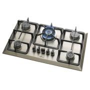 Cooktop 5 Bocas Fischer 23678-54121 à Gás Natural ou GLP - Bivolt - com Acendimento Superautomático