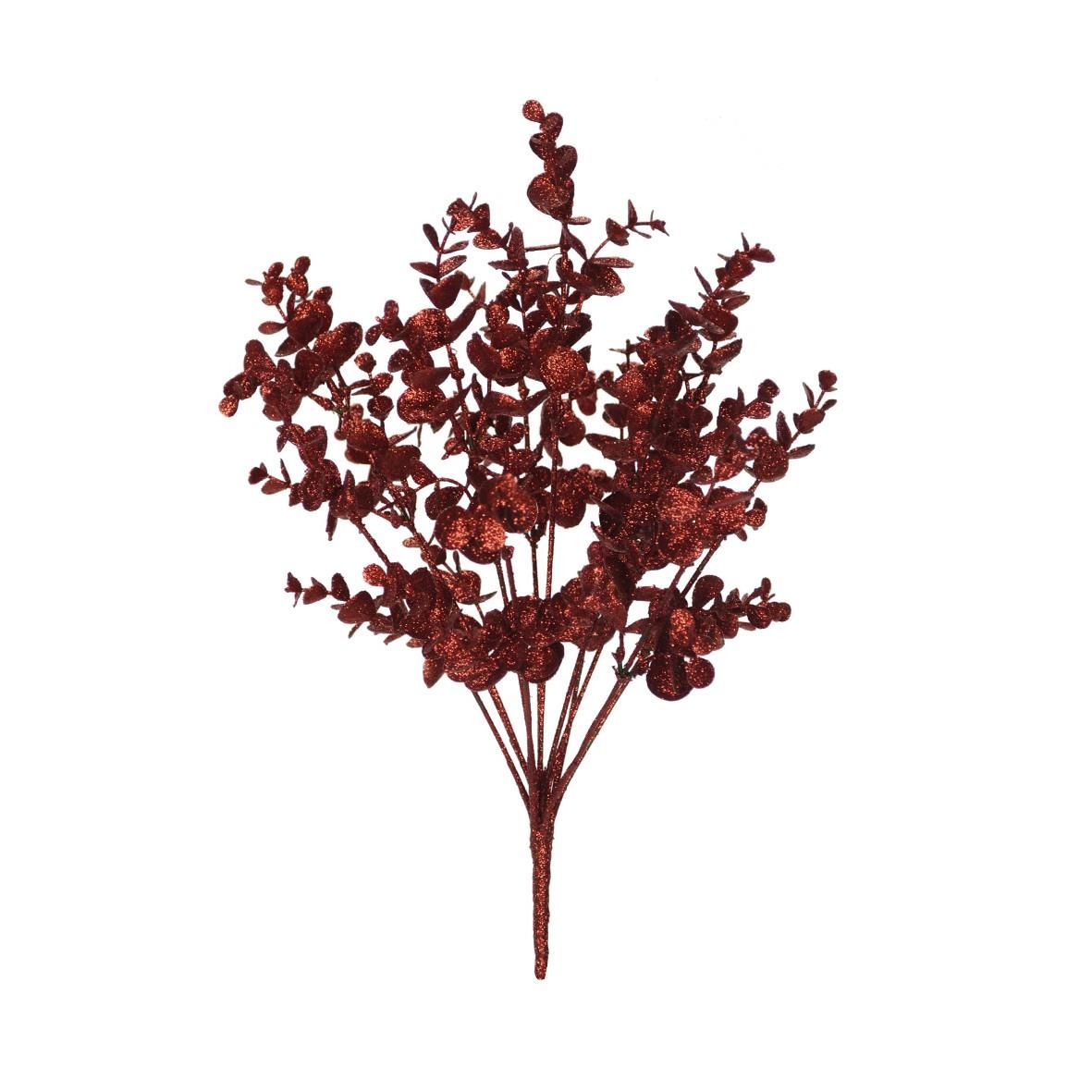 Buque Artificial Eucalipto 43cm Vermelho - Dea