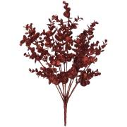 Buquê Artificial Eucalipto 43cm Vermelho - Dea