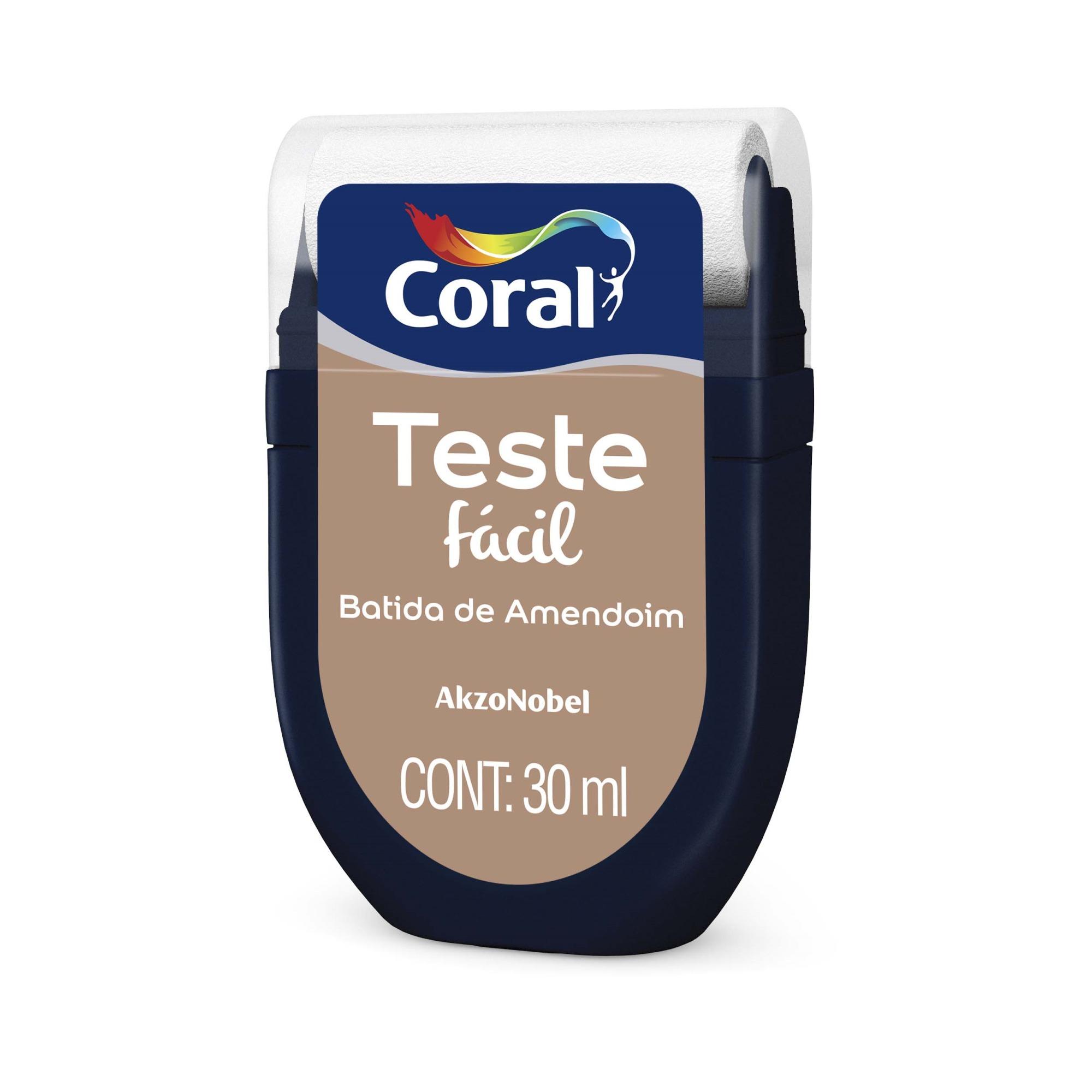 Teste Facil 30ml Batida de Amendoim - Coral