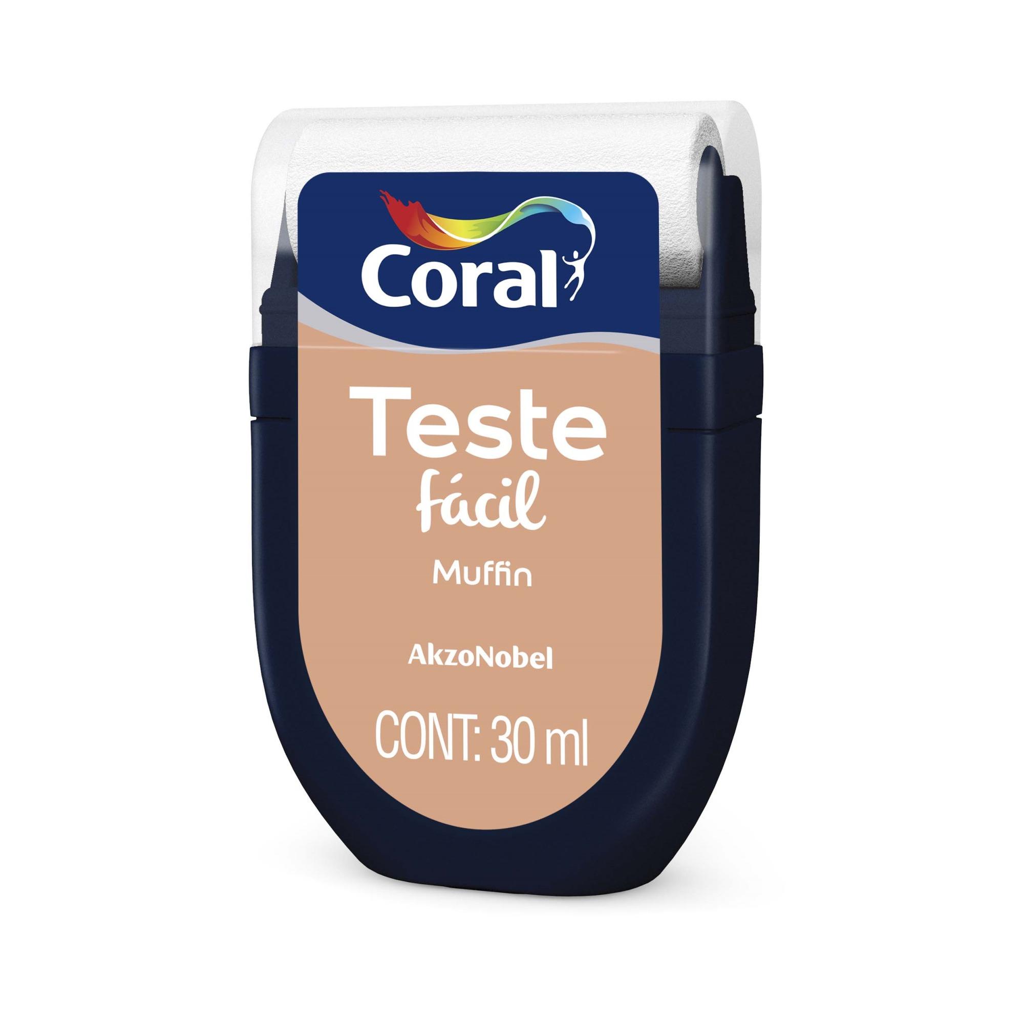 Teste Facil 30ml Muffin - Coral