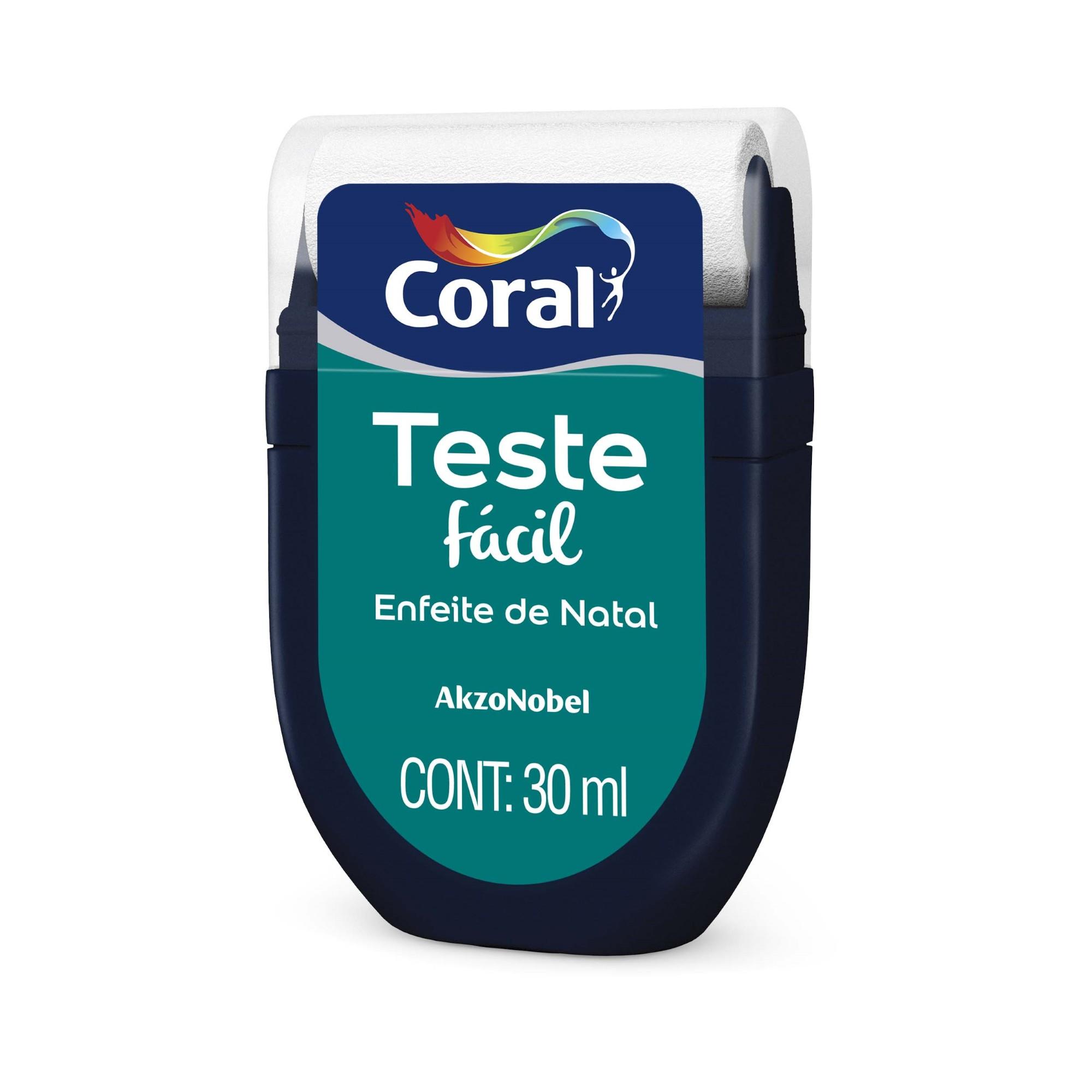 Teste Facil 30ml Enfeite de Natal - Coral