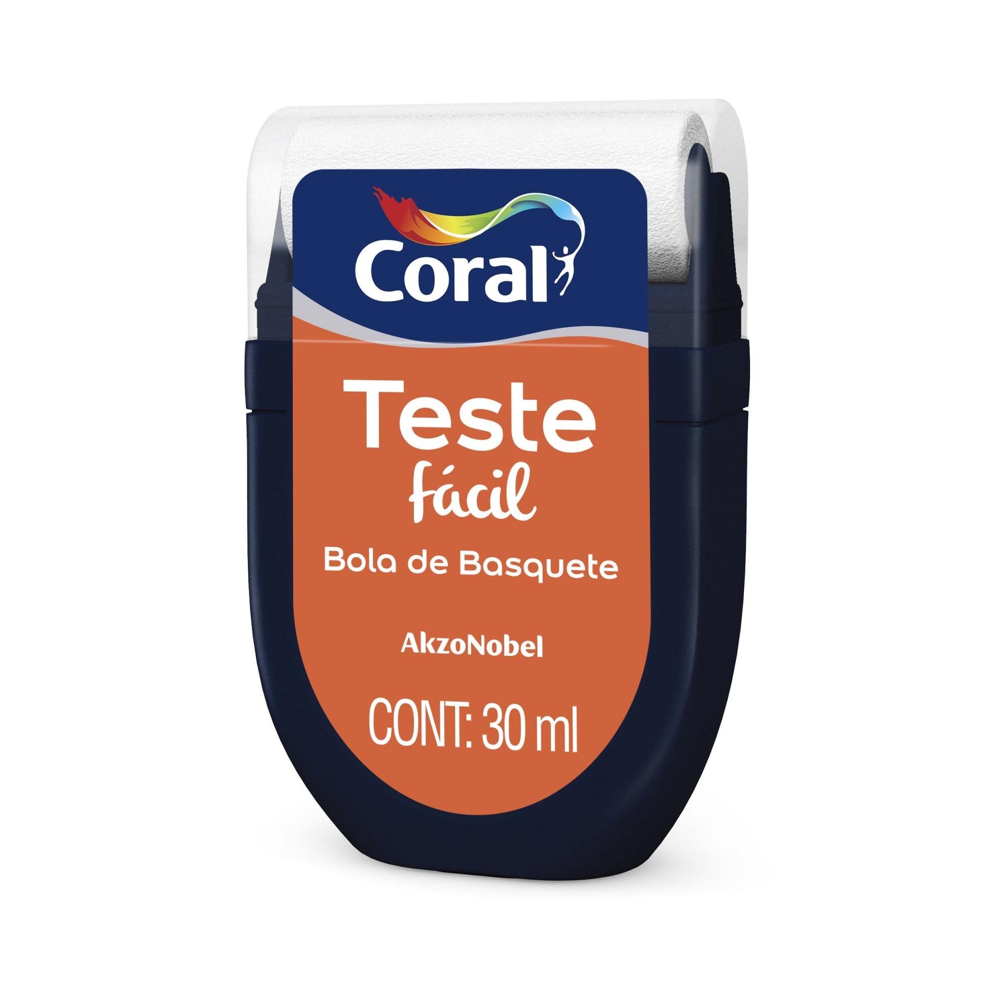 Teste Facil 30ml Bola de Basquete - Coral