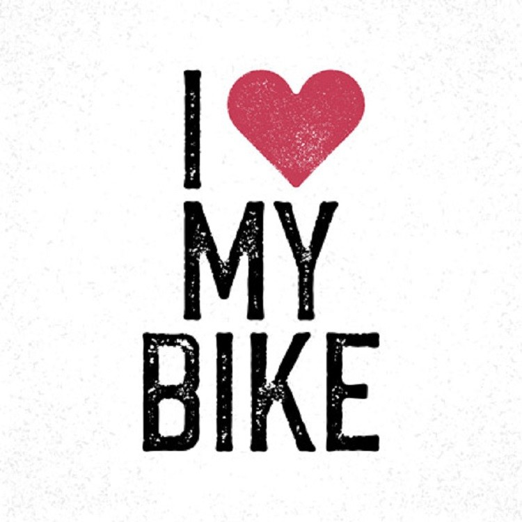 Quadro Decorativo em Canvas 25x25 cm Love Bike - Jolie