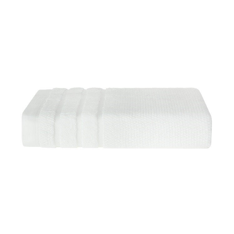 Toalha de Rosto Brescia Branca 100 Algodao 48 x 90cm - Trussardi