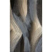 Quadro Decorativo em Canvas 50x100 cm Abstrato Cinza - Jolie