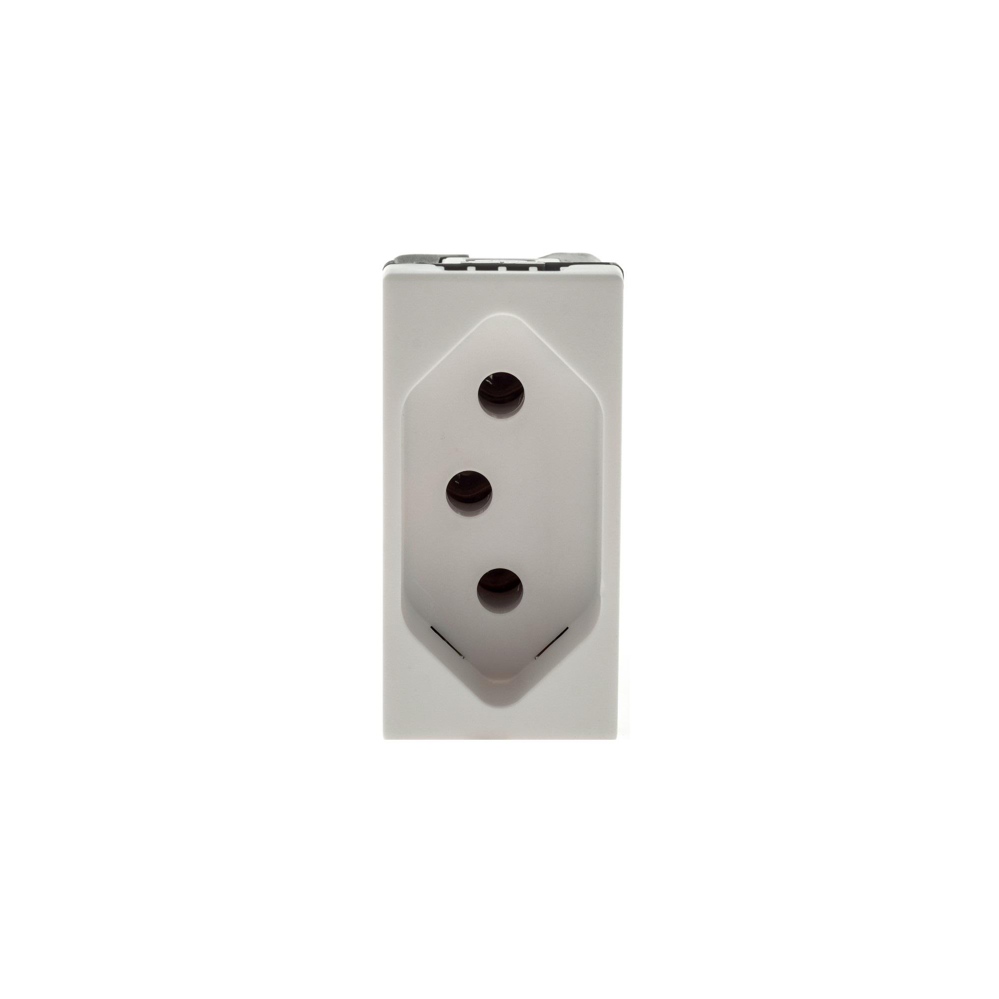 Modulo de Tomada de Energia 1 Modulo 2P T 10A Branco - Pial Plus - Legrand