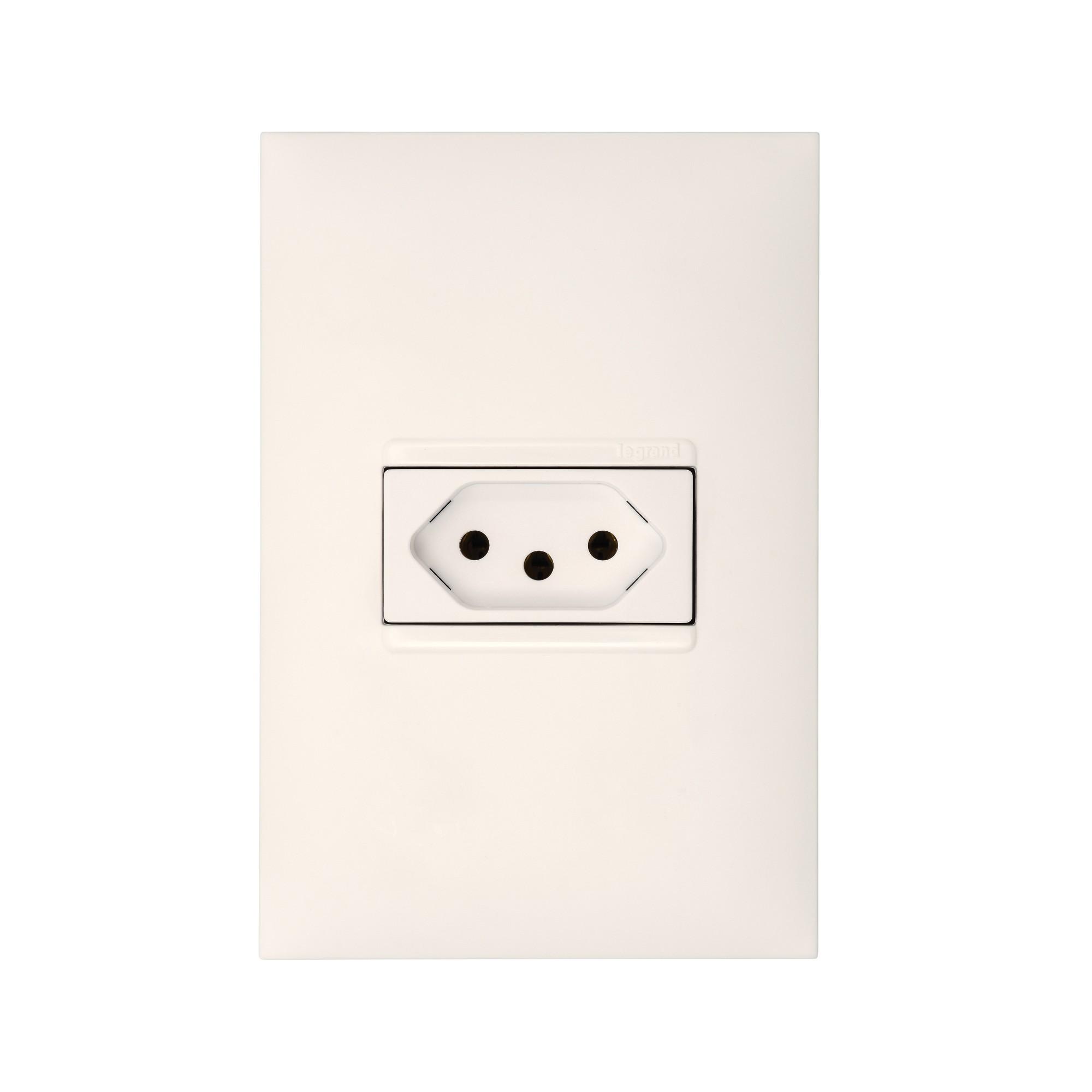 Conjunto de Tomada de Energia 1 Modulo 2P T 10A Branco - Pial Plus - Legrand