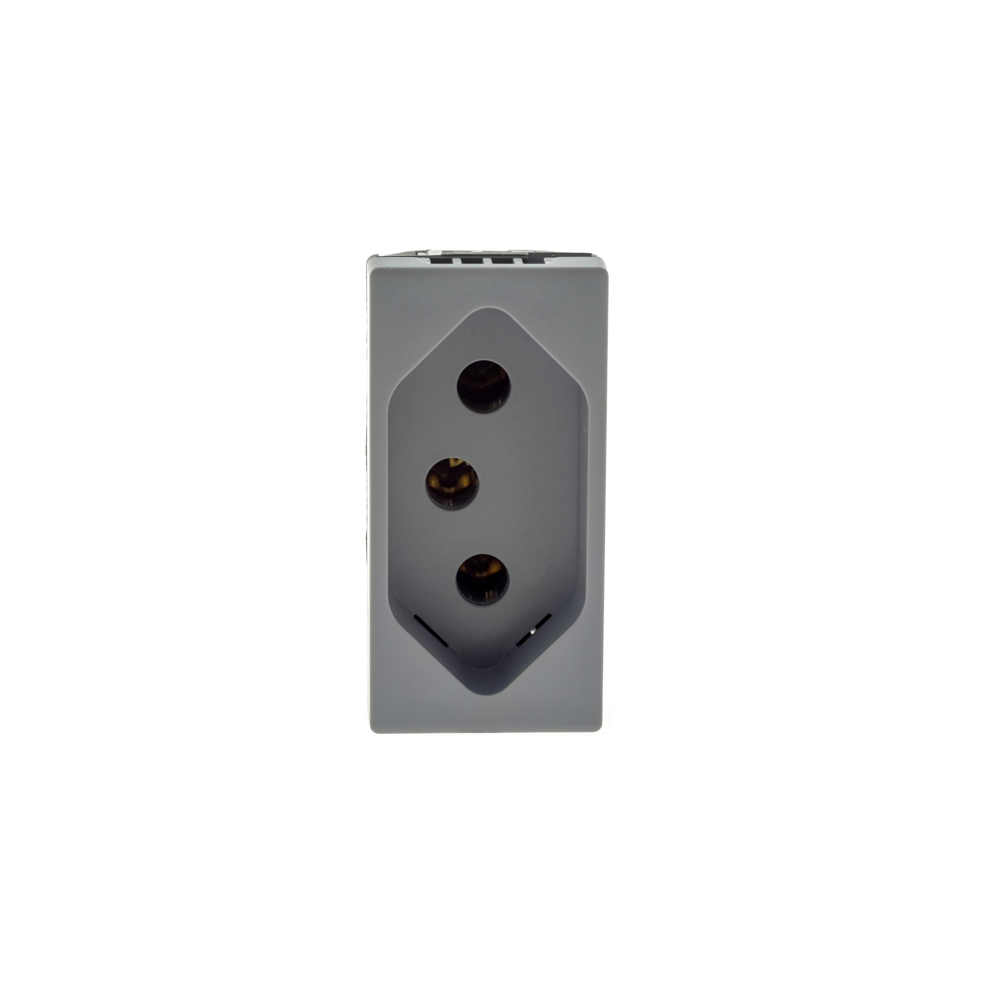 Modulo de Tomada de Energia 1 Modulo 2P T 20A Cinza - Pial Plus - Legrand